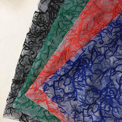 ASTONISH Robe de Haute Qualitã© Mesh Broderie Dentelle Tissu de Mariage, Jupe en Tissu Largeur Bricolage 120cm 2Yds / lot: Vert