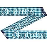 Amakando Deko Bayern Party Oktoberfest Absperrband blau Weiss 15 m Wiesn Partyband Flatterband Foliensperrband Sperrband Begrenzungsband