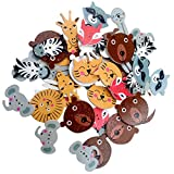 #6: Generic Pack of 50 Assorted Animals Shape Wooden 2 Holes Buttons for Sewing and Crafts Decoration