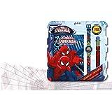 Spiderman–Set con Orologio, diario e Penna a Sfera (Kids mv92382)