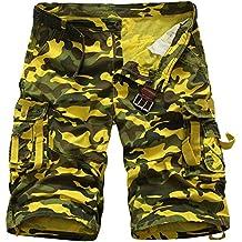 Pantalones Cortos Cargo Militares Shorts De Multi-Bolsillo Sueltos para Hombre