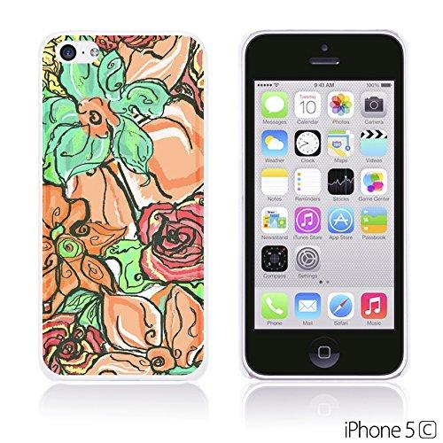 OBiDi - Flower Pattern Hardback Case / Housse pour Apple iPhone 5C - Colorful Floral Art Paint Colorful Floral Oil Painting