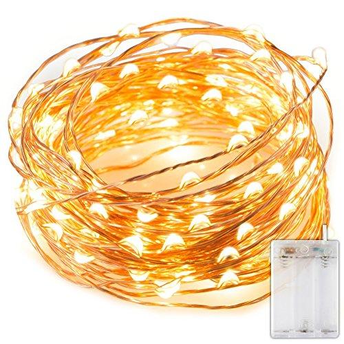 Cadena Luces LED,luz navidad alambre cobre impermeable,blanco