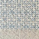 milanari Baumwollteppich Gisele Blau-Grau Größe 60 x 90 cm