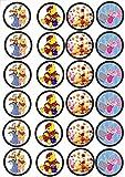 24 Muffin & Cupcake Aufleger Fondant Winnie Pooh C2