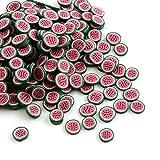 wandic über 1000pcs Wassermelone Muster Nail Art Süße Designs Fimo Canes Scheiben Polymer DIY Dekoration Aufkleber Ruten grün rot