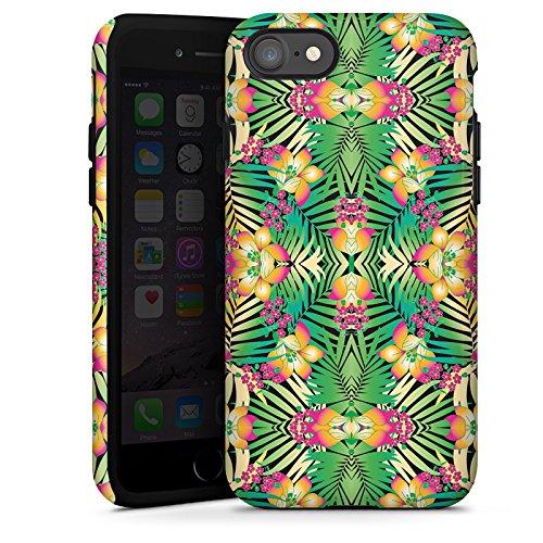 Apple iPhone X Silikon Hülle Case Schutzhülle Muster Abstrakt Tropical Tough Case glänzend