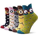 TUKNON Calzini da Donna, Caldi calzini da Donna, Calze di Lana, Calzini da Ragazza, calzini in lana in cotone con design anim