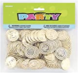 Plastic Gold Treasure Coins Party Bag Fillers, Pack of 144