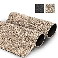 GadHome Water Absorbent Door Mat, Granite 40cm x 60cm | Indoor Outdoor Mats | Non-Slip, Washable, Quick Drying Soft Cotton Door Rug for Inside, Outside