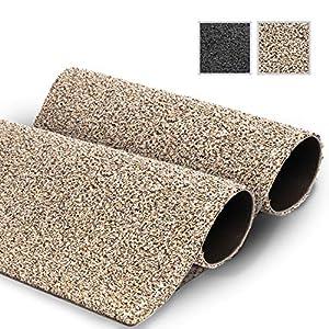 GadHome wasserabsorbierende Fußmatte, Granit 40 cm x 60 cm   Fußmatte für innen und außen   rutschfeste, waschbare, schnell trocknende Haustürmatte aus weicher Baumwolle für Innen und Außen