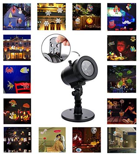Mini Projektor Beleuchtung Weihnachtsdekoration Halloween 14 Slides Wasserdichte Lichter Für Indoor Hochzeit Party Urlaub Wand Festival Spotlight Fairy Landschaft Night LED 2017 Neu - 4