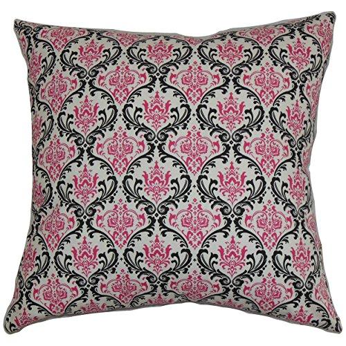 Damast Europäischen Sham (Das Kissen Collection euro-pp-madison-blackcandypink- schwarz pink Paulomi Damast Bettwäsche Sham, europäische/66x 66cm)