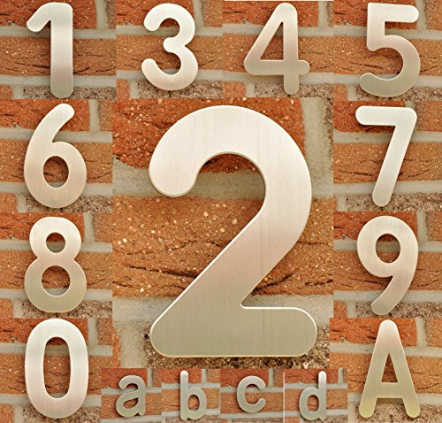 "nanook Hausnummer ""Arco"" – Edelstahl gebürstet – 15 cm – Nr. 2 - 4"