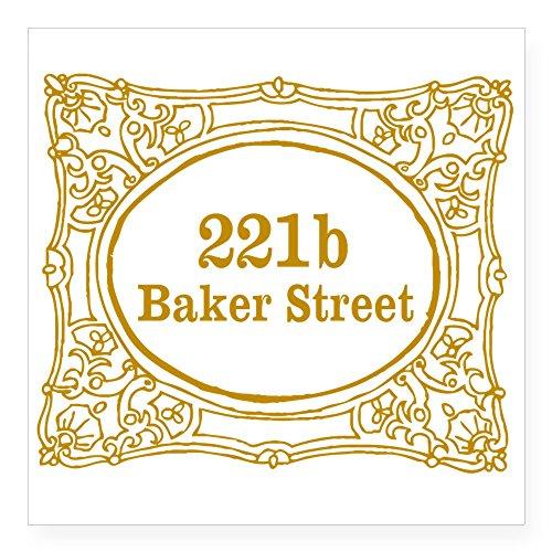 CafePress - 221B Baker Street Square Sticker 3