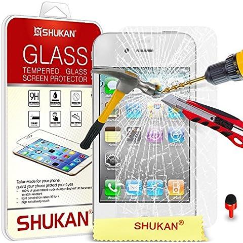 Apple iPhone 4 / 4S Temperato Bicchiere Cristallo Pulire LCD