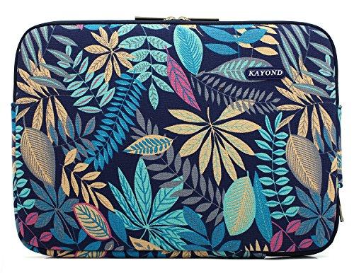 KAYOND Laptophülle 11 Zoll, Laptoptasche Laptop Sleeve Wasserabweisendmit Zubehörfach Kompatibel mit MacBook air 11 MacBook 12 Tablet Blumenmuster(Wald, 11-11,6 Zoll)