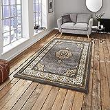 Heritage 4400 Traditioneller Teppich, 100% Polypropylen, 120 x 170 cm, silberfarben