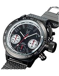 Konigswerk AQ100120G - Reloj para hombre con esfera negra y correa negra