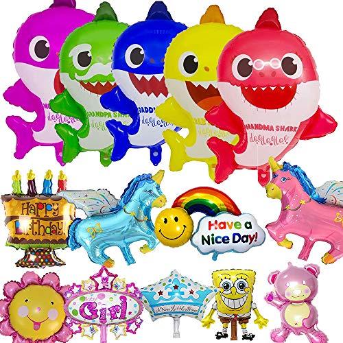 Beslime palloncini di squalo, baby cute shark decorazioni forniture palloncini in ideale per bambini festa a tema sull'oceano