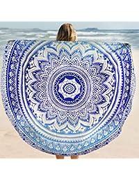 Pigupup Fader Redondo Color Tippet Mantel de Playa del Verano Toalla Yoga Mat Ronda