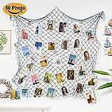 Sundell Foto hängende Anzeige, Familien Bilder & Künstlerische Funktioniert Anzeige, Bilderrahmen Fotowand Collagenbilderrahmen (Mit 50 Holzklammern & 20 Nägeln)