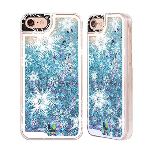 Head Case Designs Schneesturm Winter Drucke Himmelblau Handyhülle mit flussigem Glitter für Apple iPhone 6 / 6s Schneesturm