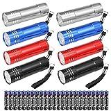 8 Pezzi Mini Led Torce Portachiave Set, Torcia Portatile Inclusa AAA Batterie, Multiuso Led Torcia Portachiavi con Cordino per Il Campeggio Escursioni Caccia Zaino In Spalla Pesca - 4 Colori