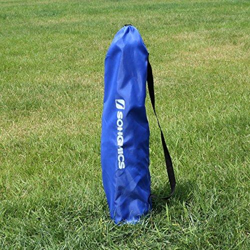 Songmics Fußballtor Maße 240x150x90cm Nets Portable Blau SZQ240 - 3