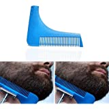 Rocita 2 PCS Beard Shaping Template Comb-Kit für Männer (blau)