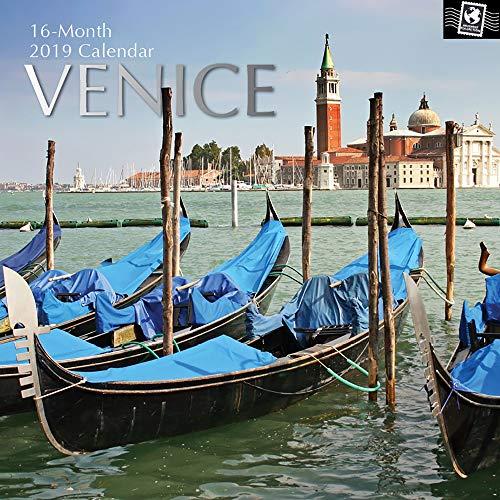 (2019 Wandkalender-2019 Venedig Kalender, 30 x 30 Zentimeter Monatskalender in Englisch, 16-Monats-, Reise-und Zielthema, inklusive 180 Reminder Sticker)