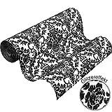 Vliestapete Barock schwarz weiß Glitzer Tapete PS Hypnose 13396-70