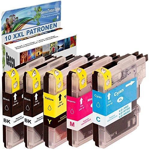 Premium Set di 10 cartucce di inchiostro compatibile con Brother LC985BK LC985C LC985M LC985Y XL per Brother MFC-J265W DCP-J140W DCP-J315W DCP-J515W DCP-J125 MFC-J220 MFC-J410 DCP-J415W 10xLC-985-Brother