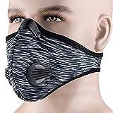 Máscara antipolvo ANGOO de filtración de carbono activado para entrenamiento de ciclismo, antipolvo, antipolen, alergia PM 2,5, anticontaminación, para actividades al aire libre, gris