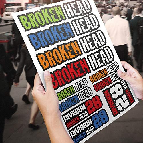 Broken Head Aufkleber Bogen Color Flash A3   Sticker - Decal - Dekor - Sponsoren Aufkleber - Flash Head