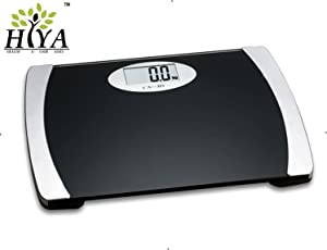Hiya Camry Wide-Platform Digital Weighing Scale (200Kg Capacity)- (Black)