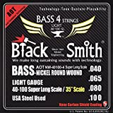 The Black Smith 40-100 35 Coated Set of 4 Strings for Electric Bass
