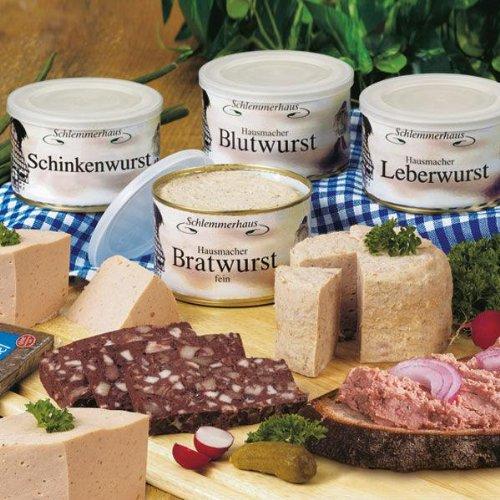 Schlemmerhaus Westfälische Spezialitäten (1,6 kg) Blutwurst, Bratwurst, Leberwurst, Schinkenwurst...