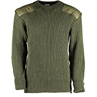 Genuine British Army (Grade 1 Used) Pullover Woolly Pully - Olive Green 6