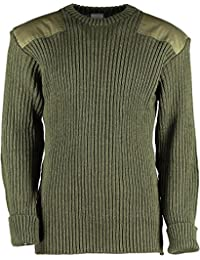 Genuine British Army (Grade 1 Used) Pullover Woolly Pully - Olive Green