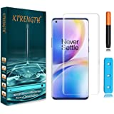 XTRENGTH's Advanced HD+ Curved UV Tempered Glass / Screen Guard Designed for OnePlus 8 / 1+8 (Transparent) Advanced…