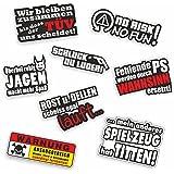 Folien-zentrum 8 stickerset Shocker Hand Autosticker JDM Tuning OEM Dub Decal Stickerbomb Bombing Sticker Illest Dapper Fun O