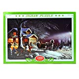 Image for board game Gifts 4 All Occasions Limited SHATCHI-1399 Winter Night 1000 Piece Jigsaw Puzzle for Kids Grownups Birthday Christmas Gift, Multi