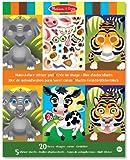 Melissa & Doug 18605 Crazy Animals Make-a-Face Sticker Pad