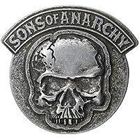 Sons of Anarchy Skull Gunmetal Belt Buckle - Gunmetal Moda
