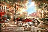 Fertig-Bild - Ruane Manning: Riverwalk Charm 60 x 90 cm Fluss mit Brücke Nostalgie Idylle