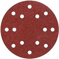Wolfcraft 1840100-12 discos de lija auto-adhesivos, corindón grano 40,80,120,240; perforado Ø 150 mm