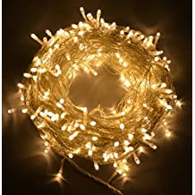 The Kingdom Store Rice String Lights Warm White Color 10M For Decorative Purposes 10M To 100M Fairy Leds With 8 Pattern Operation