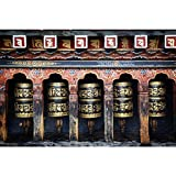 #3: Pitaara Box Mantra Prayers In Bhutan Temple - LARGE Size 27.0 inch x 18.0 inch - UNFRAMED SELF-ADHESIVE PEEL & STICK GLOSSY LAMINATED PVC VINYL Wall Artwork : WALL STICKER & DECALS : DIGITAL PRINT like Hand Paintings : Beautiful Interior Home Décor Photo Gifts & Decorative Paintings for Bedroom, Living, Drawing, Dining Room, Office, Reception, Bathroom, Outdoor, Gallery, Hotels, Bar, Lounge, Restaurants, Kitchen Area & Balcony : Places, Religious : Photography