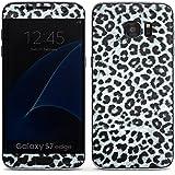 Samsung Galaxy S7 Edge Case Skin Sticker aus Vinyl-Folie Aufkleber Leopard Fell Grau Animal Print